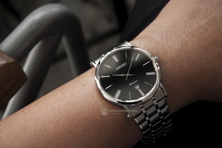Đồng hồ Seiko SKP393P1 sang trọng, kính sapphire cao cấp - Ảnh 1