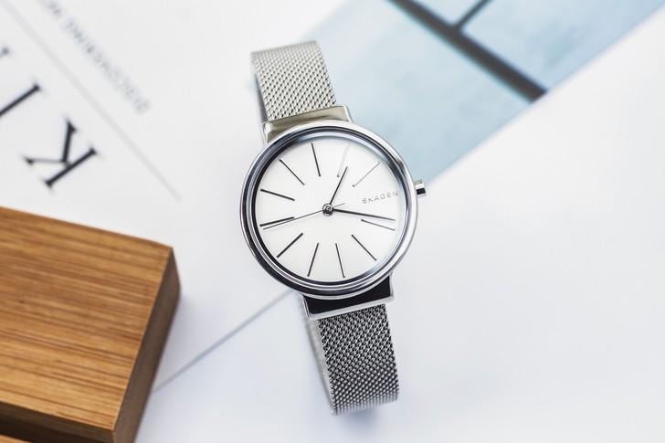 Đồng hồ nữ Skagen SKW2478 siêu mỏng, dây lưới thời trang - Ảnh 1