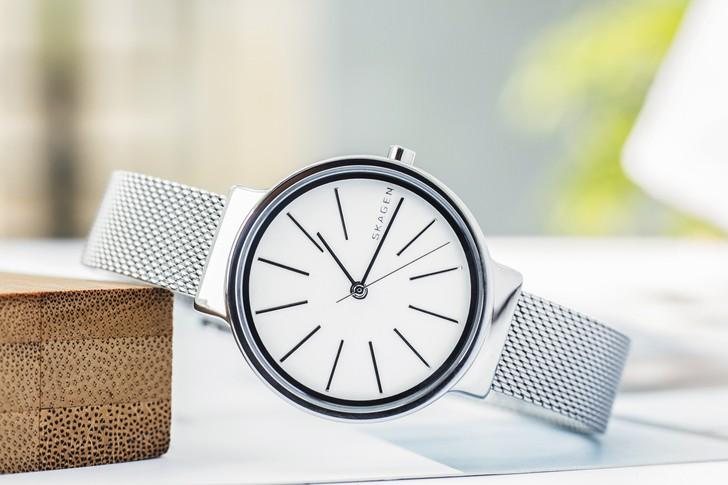 Đồng hồ nữ Skagen SKW2478 siêu mỏng, dây lưới thời trang - Ảnh 2