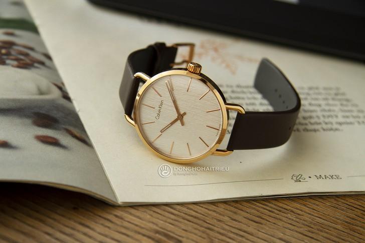 Đồng hồ Calvin Klein K7B216G6 thời trang, dây da lịch lãm - Ảnh 3