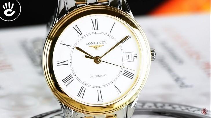 Đồng hồ Longines L4.774.3.21.7 máy cơ ETA, siêu mỏng 7.5mm - Ảnh: 4
