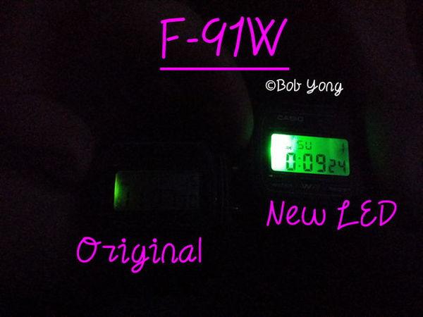 """""""Độ"""" Đồng Hồ Điện Tử Casio F-91W Huyền Thoại Thêm Tính Năng Siêu Đã LED"""
