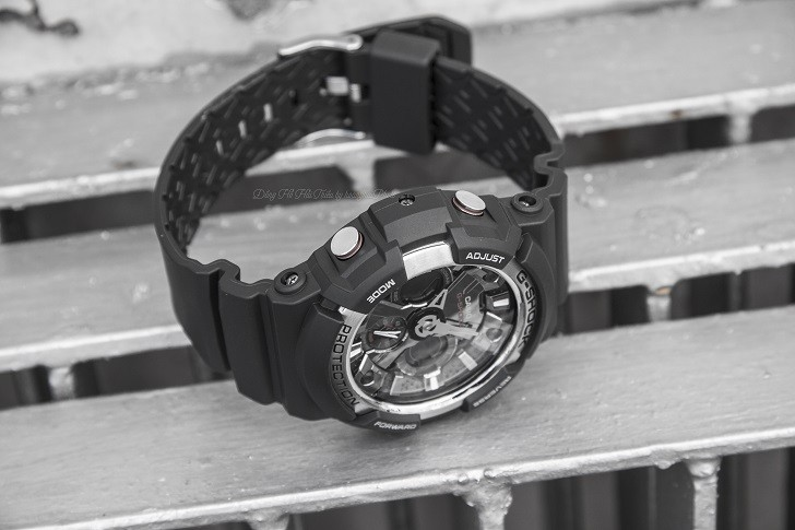 Đồng hồ thể thao G-Shock GA-200-1ADR thoải mái bơi lặn - Ảnh 4