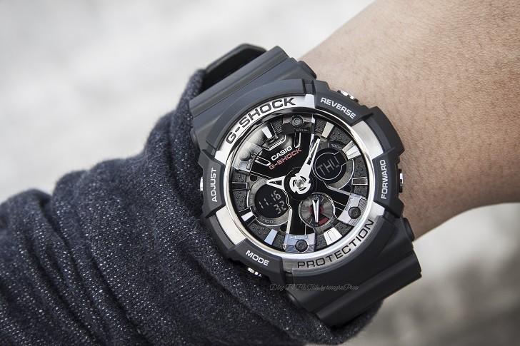 Đồng hồ thể thao G-Shock GA-200-1ADR thoải mái bơi lặn - Ảnh 5