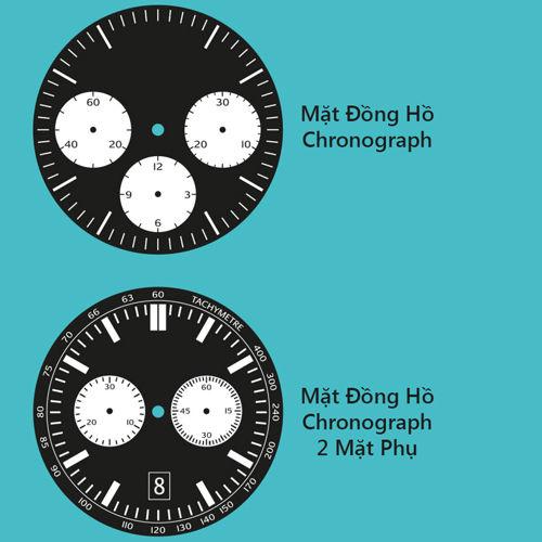Nhận Biết Các Kiểu Mặt Đồng Hồ Đeo Tay Phổ Biến Nhất Hiện Nay Chronograph