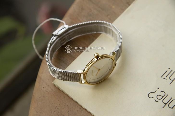 Đồng hồ Skagen SKW2340: Vỏ và dây kim loại cứng cáp - Ảnh 5