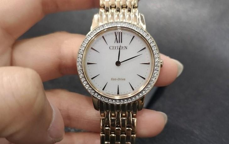 Đồng hồ nữ Citizen EX1483-84A bộ máy năng lượng ánh sáng - Ảnh 3