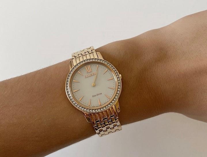 Đồng hồ nữ Citizen EX1483-84A bộ máy năng lượng ánh sáng - Ảnh 4