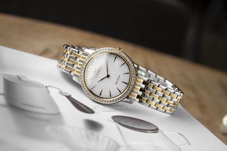 Đồng hồ nữ Citizen EX1484-81A bộ máy năng lượng ánh sáng - Ảnh 2