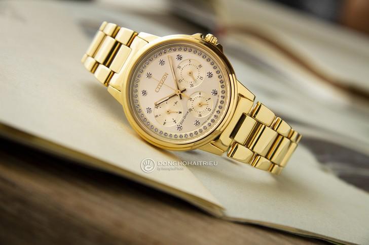 Đồng hồ Citizen FD2042-51P mạ vàng, đính pha lê sang trọng - Ảnh 1