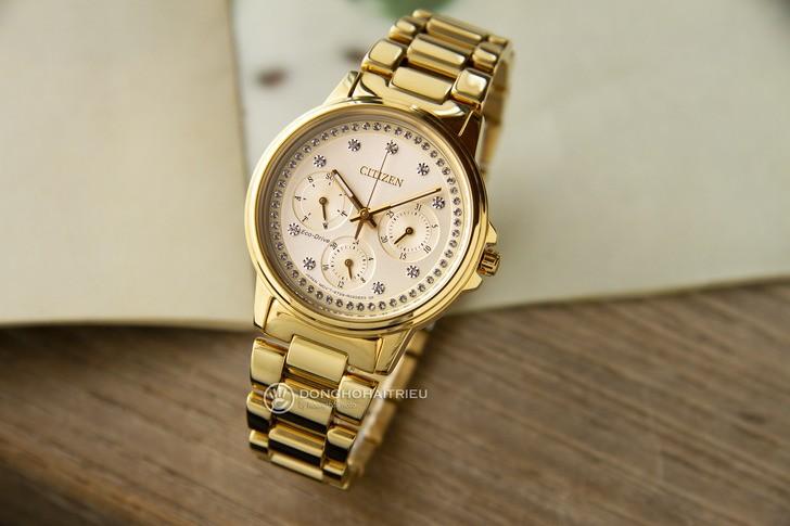 Đồng hồ Citizen FD2042-51P mạ vàng, đính pha lê sang trọng - Ảnh 2