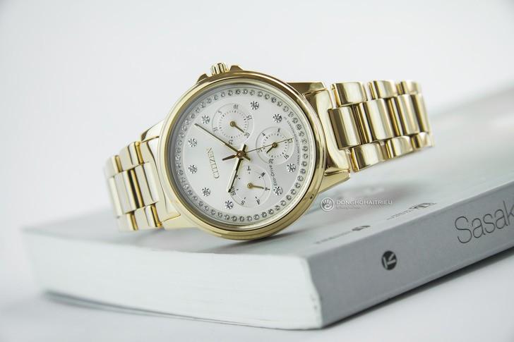 Đồng hồ Citizen FD2042-51P mạ vàng, đính pha lê sang trọng - Ảnh 6
