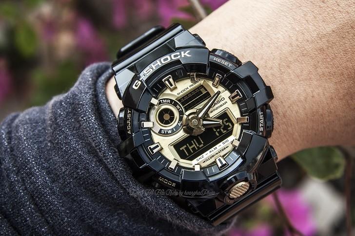 Đồng hồ G-Shock GA-710GB-1ADR giá rẻ, thay pin miễn phí - Ảnh 3