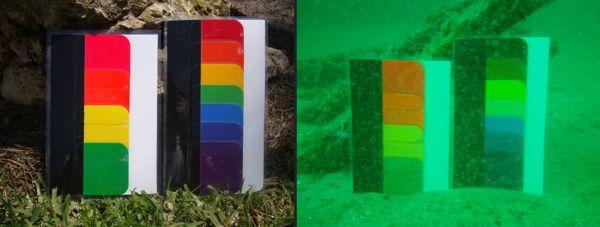 Khám Phá: Màu Đồng Hồ Sẽ Trông Như Thế Nào Khi Ở Dưới Nước Bảng Màu