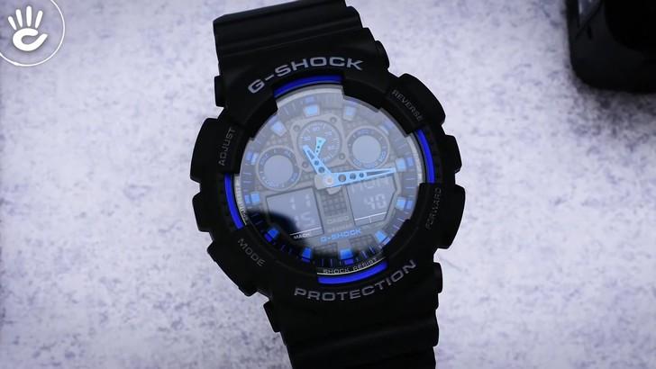 Đồng hồ G-Shock GA-100-1A2DR giá tốt, free thay pin trọn đời - Ảnh 1