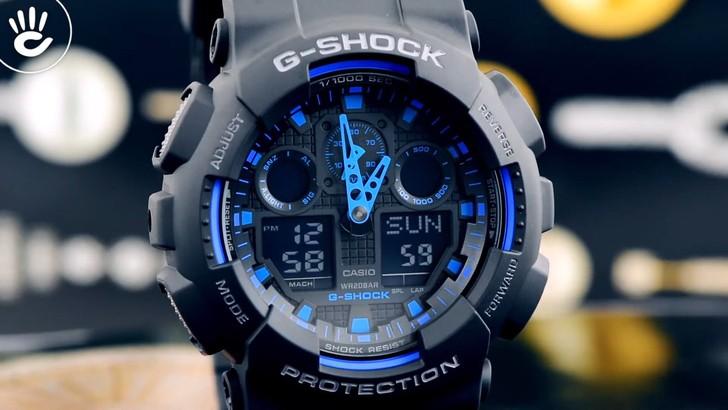 Đồng hồ G-Shock GA-100-1A2DR giá tốt, free thay pin trọn đời - Ảnh 2