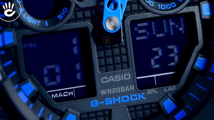 Đồng hồ G-Shock GA-100-1A2DR giá tốt, free thay pin trọn đời - Ảnh 3