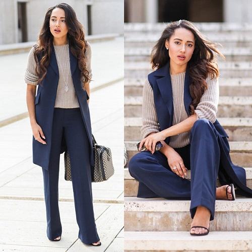 các kiểu thời trang công sở vest nữ 2