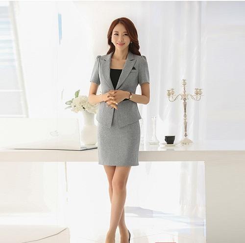 các kiểu thời trang công sở vest nữ 4