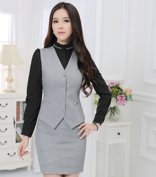 các kiểu thời trang công sở vest nữ 5