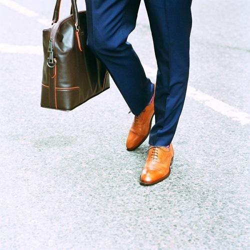 cách phối giày da công sở nam 6.1