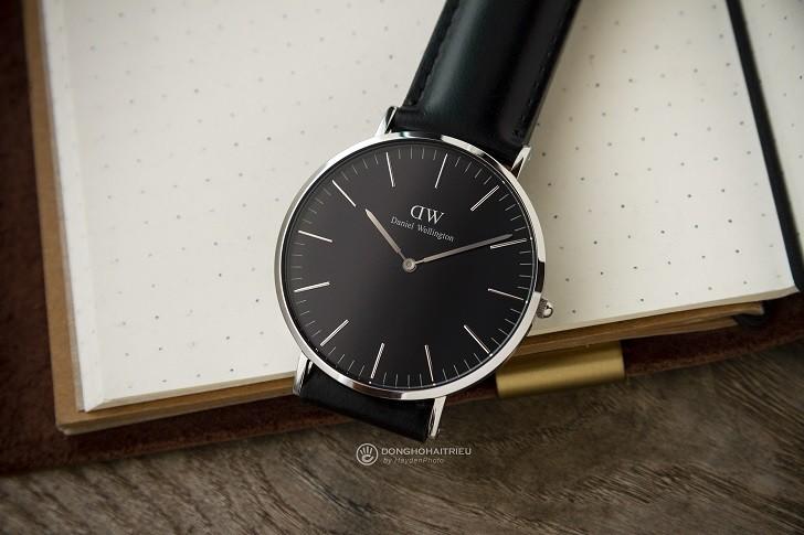 Đồng hồ nam Daniel Wellington DW00100133 siêu mỏng, dây da - Ảnh 1