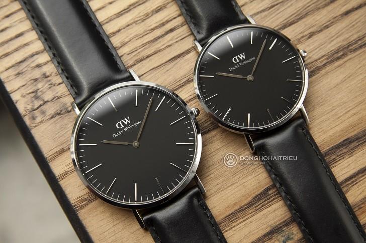 Đồng hồ nam Daniel Wellington DW00100133 siêu mỏng, dây da - Ảnh 3