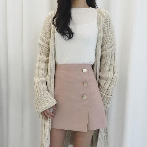chân váy công sở kiểu Hàn Quốc caro với chiếc áo khoác dạ dàng vest 7