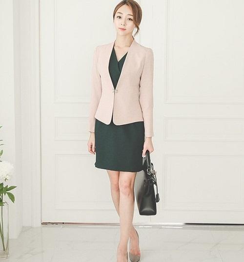 thời trang công sở vest nũ đầm 3