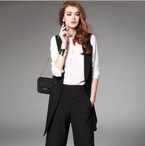 thời trang công sở vest nũ quần 2