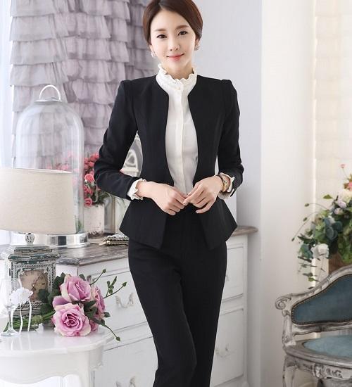 thời trang công sở vest nữ quần 3