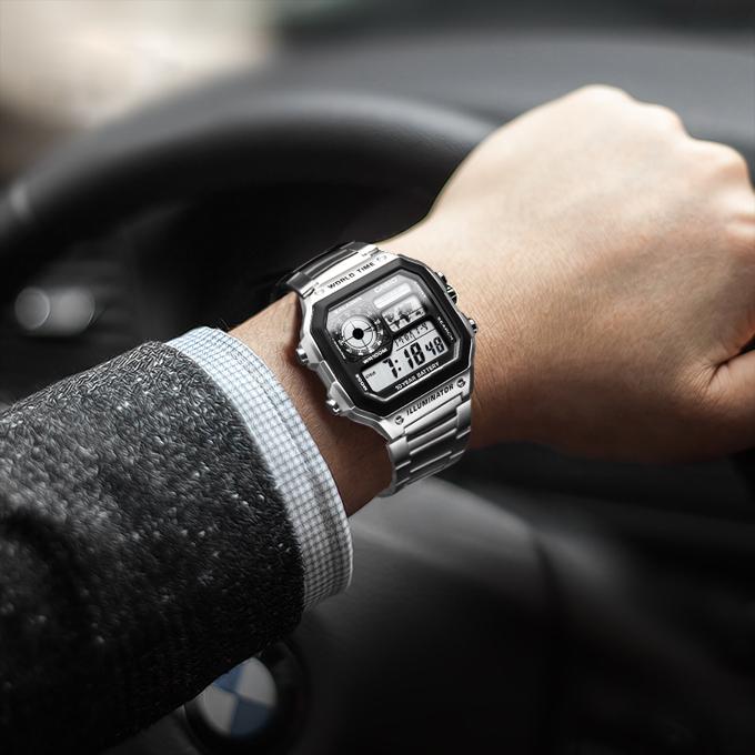 Kết quả hình ảnh cho Đánh giá đồng hồ Casio AE-1200WHD-1AVDF
