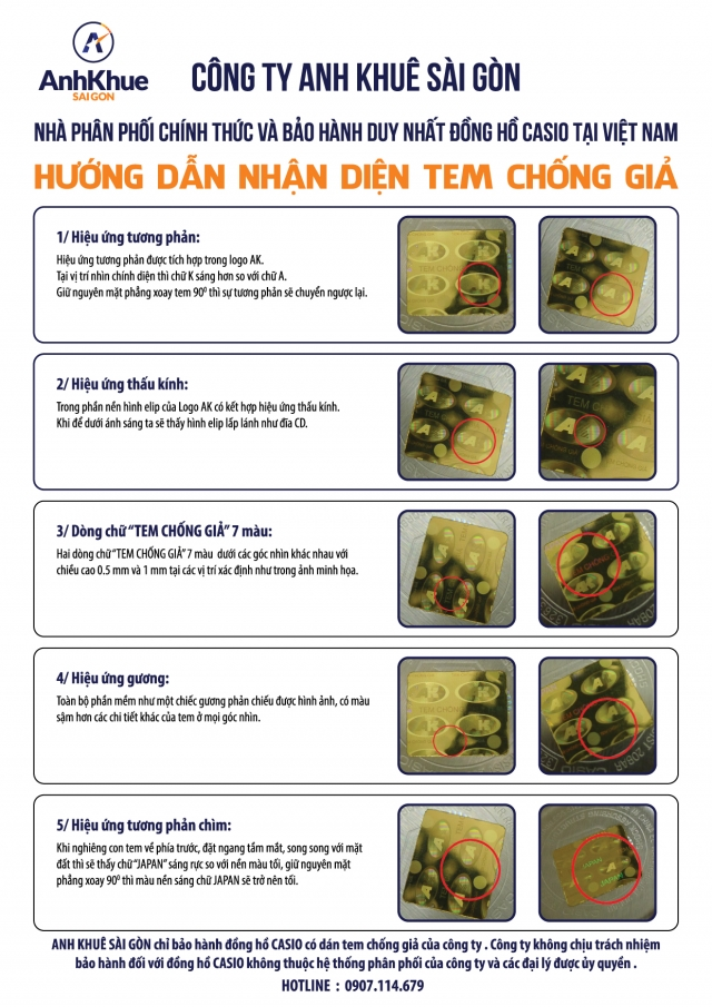 3 Bước Phân Biệt Đồng Hồ Casio AE1200WHD Thật Giả Chính Xác Nhất Tem Anh Khuê