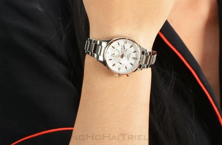Đồng hồ nữ Casio SHE-3047SG-7AUDR đính đá sang trọng - Ảnh 1