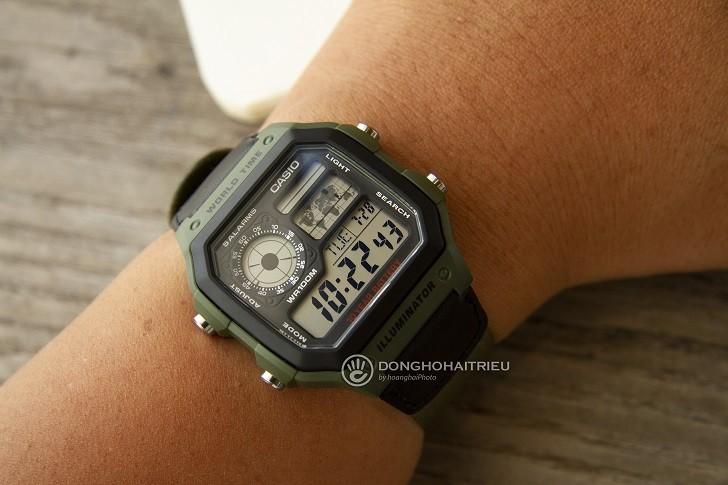 Đồng hồ Casio AE-1200WHB-3BVDF giá rẻ, thay pin miễn phí - Ảnh 2