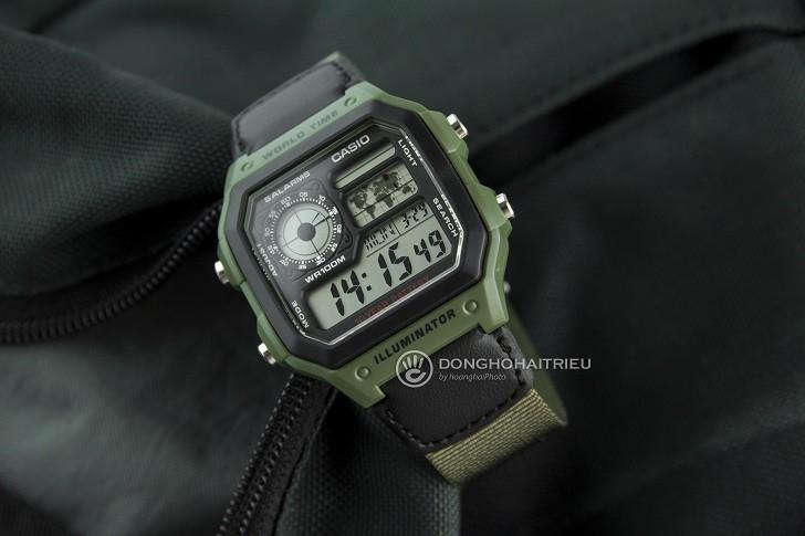 Đồng hồ Casio AE-1200WHB-3BVDF giá rẻ, thay pin miễn phí - Ảnh 3