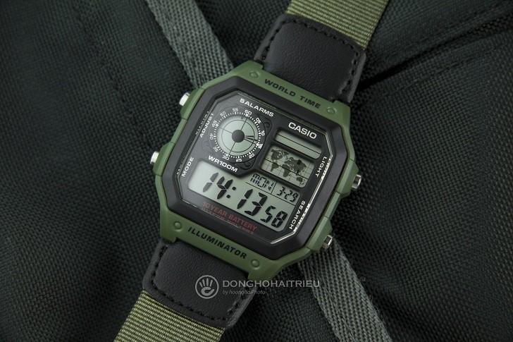 Đồng hồ Casio AE-1200WHB-3BVDF giá rẻ, thay pin miễn phí - Ảnh 6