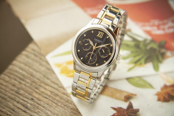 Đồng hồ Casio LTP-E306SG-1AVDF: Thiết kế đề cao sự cân đối - Ảnh 1