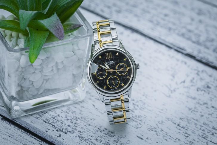 Đồng hồ Casio LTP-E306SG-1AVDF: Thiết kế đề cao sự cân đối - Ảnh 2