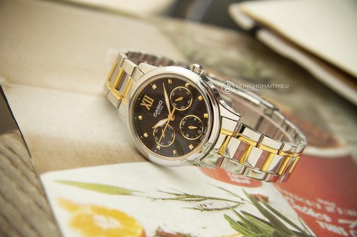 Đồng hồ Casio LTP-E306SG-1AVDF: Thiết kế đề cao sự cân đối - Ảnh 3