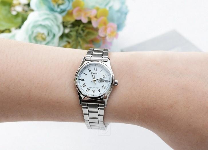 Đồng hồ Casio LTP-V006D-2BUDF giá rẻ, free thay pin trọn đời - Ảnh 1