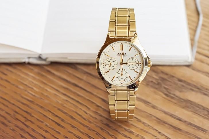 Đồng hồ Casio LTP-V300G-9AUDF đa năng, mạ vàng sang trọng - Ảnh 1