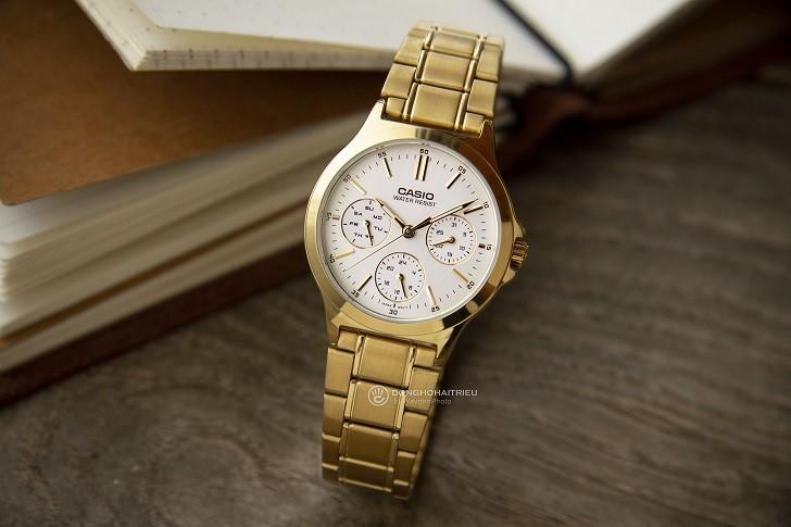 Đồng hồ Casio LTP-V300G-9AUDF đa năng, mạ vàng sang trọng - Ảnh 3