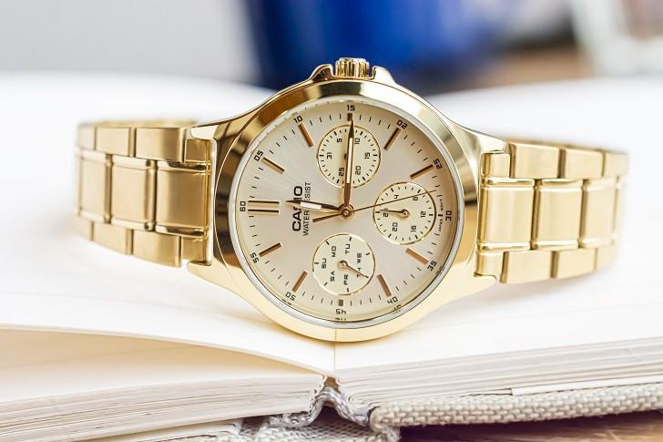 Đồng hồ Casio LTP-V300G-9AUDF đa năng, mạ vàng sang trọng - Ảnh 7