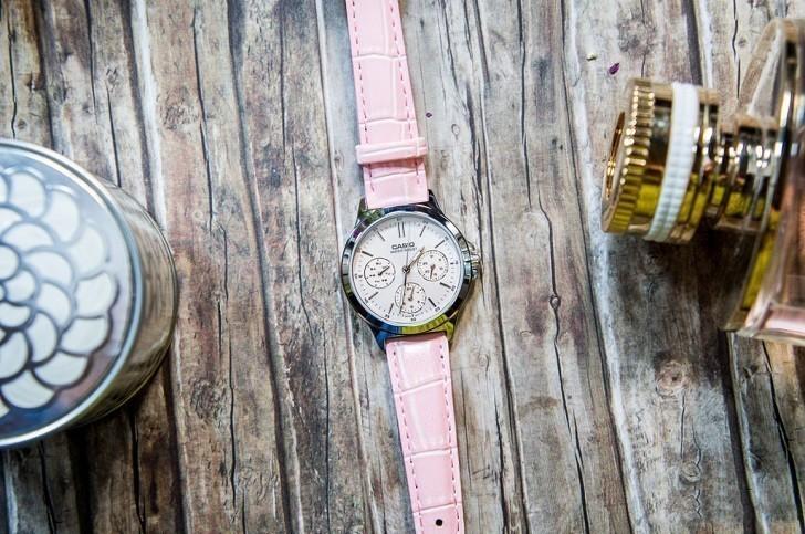 Đồng hồ Casio LTP-V300L-4AUDF màu hồng, miễn phí thay pin - Ảnh: 1