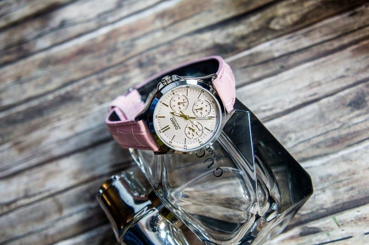 Đồng hồ Casio LTP-V300L-4AUDF màu hồng, miễn phí thay pin - Ảnh: 2