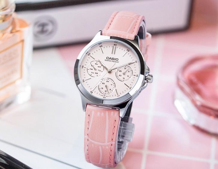 Đồng hồ Casio LTP-V300L-4AUDF màu hồng, miễn phí thay pin - Ảnh: 4