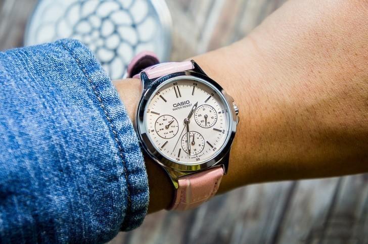 Đồng hồ Casio LTP-V300L-4AUDF màu hồng, miễn phí thay pin - Ảnh: 5