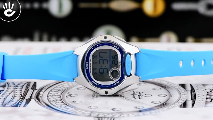 Đồng hồ nữ Casio LW-200-2BVDF giá rẻ, thay pin miễn phí - Ảnh 1