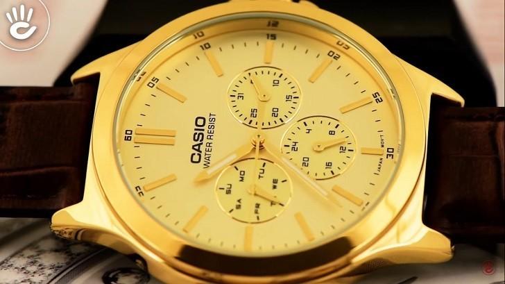 Đồng hồ Casio MTP-V300GL-9AUDF giá rẻ, thay pin miễn phí - Ảnh 2